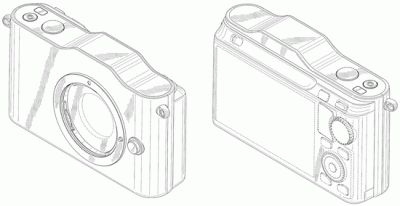 Nikon 1 mirrorless camera desing patent